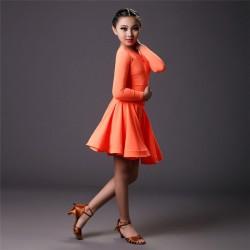 YLF0003    Children Latin dance Dress