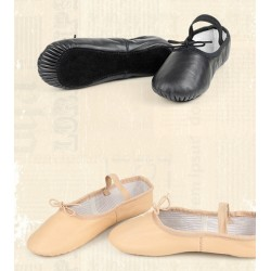 YZ00002    Cow Leather/Pig Skin Upper Full Sole ballet shoe