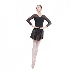 B100653    Women Leotard With Skirt
