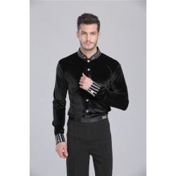 DKL0001   Men's Latin Dance Shirt